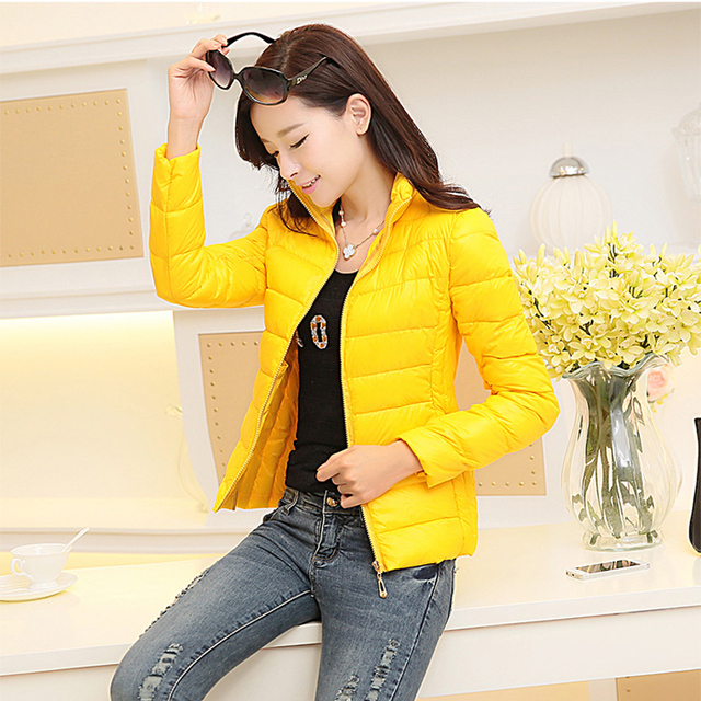 Outerwear Down jacket clothing 2016 Autumn and winter jacket women coat Casual Slim fit warm womens parka jackets Wadded
