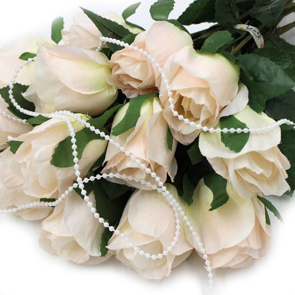 10m 3mm Fishing Line Beaded Pearl Ring Lotus Flower Wedding Party