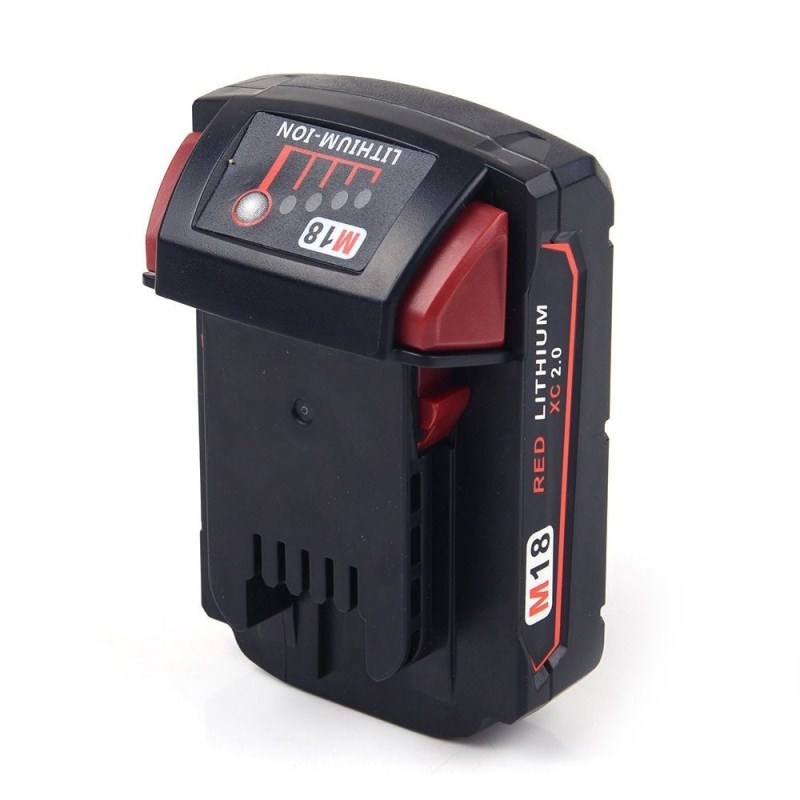 FOR MILWAUKEE 18V 2.0Ah Li-Ion Replacement Power Tool Battery for Milwaukee 18V 2000mAh M18 48-11-1828 48-11-1815 48-11-1840 power tool accessory lithium ion battery charger 14 4v 18v for milwaukee c18c c1418c 48 11 1815 1828 1840 m18 m14 serise parts