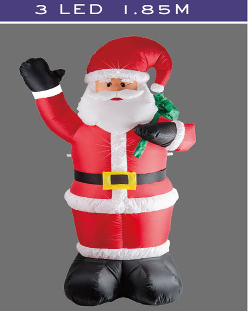 15 18m led blow up santa decorations hot inflatable christmas outdoor santa claus polyester - Blow Up Christmas