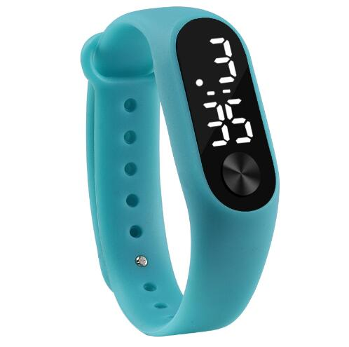 Digital Watches Fashion Men Women Casual Sports Bracelet Watches White Led Electronic Digital Candy Color Silicone Wrist Watch For Children Kids To Have A Long Historical Standing