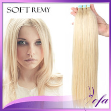 blonde tape hair extensions 40 pieces grade 7a tape in hair straight 24 inch brazilian double drawn virgin tape hair extensions