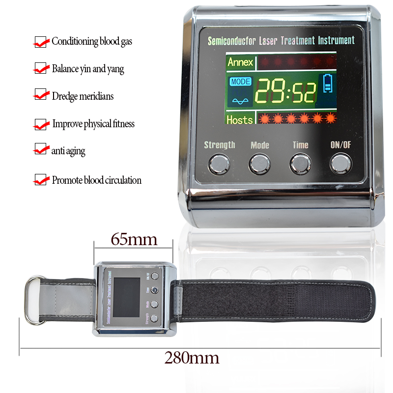 Health 650nm diode laser Physiotherapy Device LLLT For hypertension cerebral diabetes rhinitis cholesterol thrombosis treatment