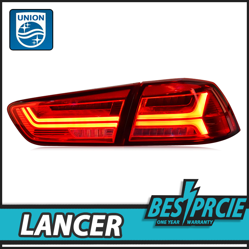 UNION Car Styling Tail Lamp for Lancer EX 2009-2016 Tail Lights Lancer LED Tail Light BMW Design Rear Lamp DRL+Brake+Park+Signal car styling led tail lamp for mitsubishi lancer tail lights for lancer rear light drl turn signal brake reverse led light