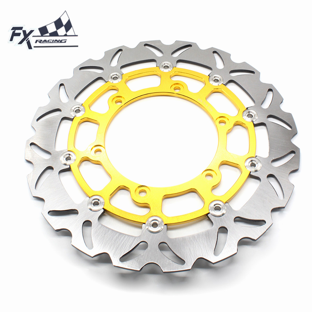 FX  Motorcycle 320mm Floating Front Brake Disc Rotor For Yamaha YZF R1 XJ600 N TDM 900CC FZS 1000 FAZER VMX12 XV 1900 sintered copper motorcycle parts fa252 front brake pads for yamaha fzs 600 fazer 98 03