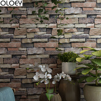 1PC Waterproof Stone Brick Wall Sticker Self Adhesive Wallpaper Home Decor Wall Sticker Room Bedroom Bathroom Kitchen Decor