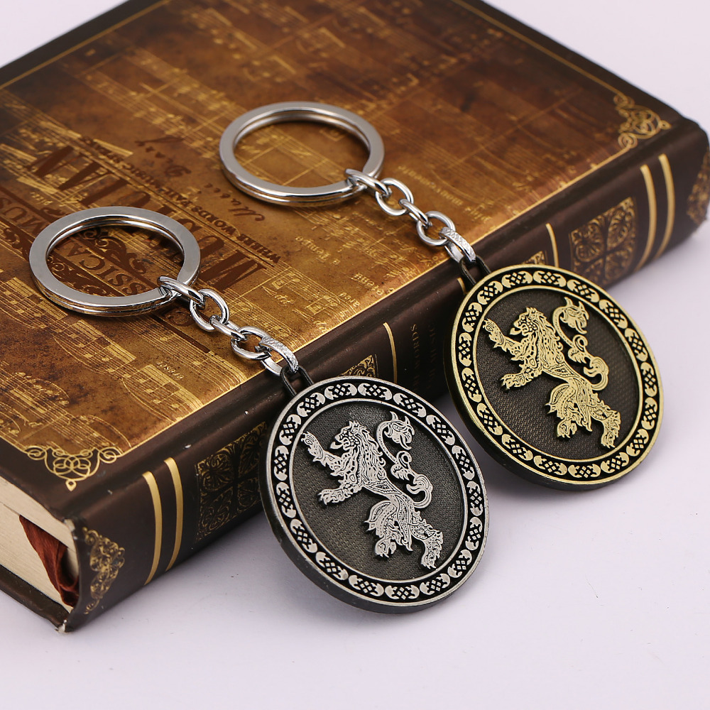 Game of Thrones keyring Lannister Family Keychain Song Of Ice And Fire llaveros porte clef For Men Boys HC11908 solid wood door glass door handle stainless steel bronze sculpture of chinese antique european style luxury door handles