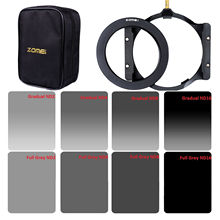 Zomei Square filter 150*100mm Complete&Graduated ND2 4 8 16 Neutral Density ND filter holder+67/72/77/82/86mm adapter