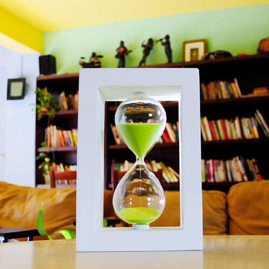 45/60 minut přesýpací hodinky brýle Výška 20.5cm kreativní Moderní dřevěné řemesla Domácí dekorace reloj de arena velkoobchod