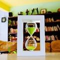 45/60 minutos reloj de arena sandglass altura 20,5 cm madera moderna creativa artesanía decoración para el hogar reloj de arena al por mayor