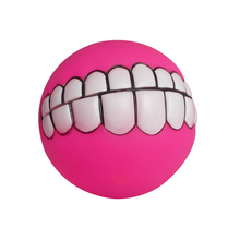 Funny Pets Dog Puppy Cat Ball Teeth Toy PVC Chew Sound Dogs Play Fetching Squeak Toys Pet Supplies Random Color