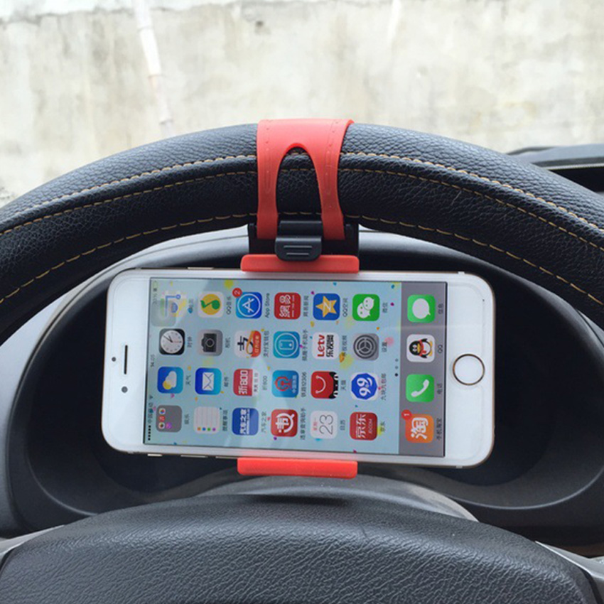 Car Steering Wheel Smartphone Mobile Car Holder Auto Phone Holder Stand Bracket Grip Cellphone Support For S Amsung S10 Plus
