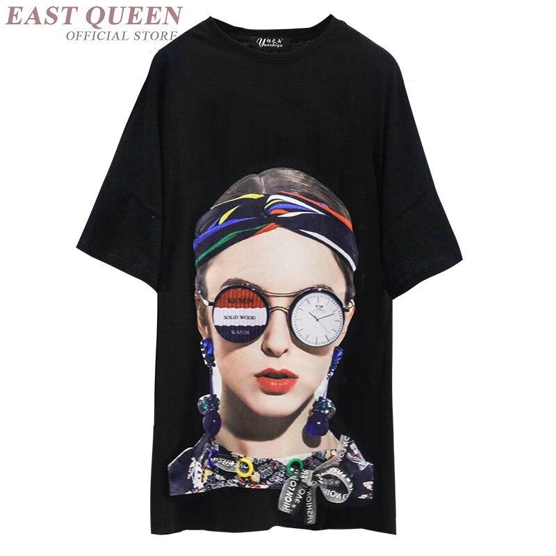 Harajuku 2018 style punk femmes figure imprimé streetwear femme lâche vêtements décontractés o-cou manches courtes t-shirt AA3757 Y A