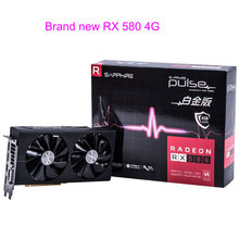 Brand NEW For Sapphire RX580 4G PC Computer Game Video Card RX 580 4GB Graphics Card GDDR5 256bit Game Mining Transcend GTX1060