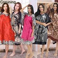 RB073 Summer Nightgown 2017 New Arrival Hot Sale Leisure Nightgown Printed Fashion Home Clothing Ladies' Robes For Party Shower