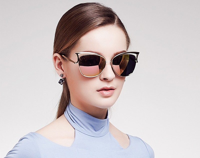 HTB1AWUHSFXXXXXWXpXXq6xXFXXXV - KIKI Women Sunglasses Polarized Retro Cat Eyes Metal Driving Gold Sun Glasses Brand Designer UV400 oculos de sol feminino