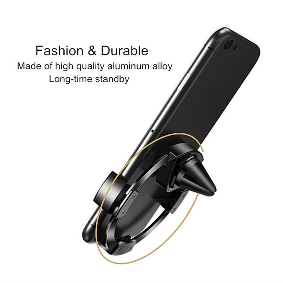 Gravity Reaction Car Mobile Phone Holder Clip Type Air Vent Monut No Magnetic GPS Car Phone Holder for iPhone xiaomi Phone Stand in Phone Holders Stands from Cellphones Telecommunications