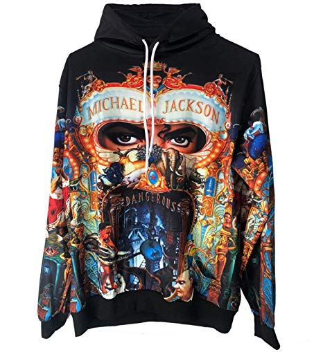 Michael Jackson Dangerous Syles Coat Mj Cosplay Sweatshirt Men's Autumn Casual Hoodies
