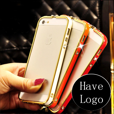 Luxury Czech Gold Rhinestone Diamond case Metal women 6plus Bumper Frame Bling Case iPhone 6 H - SZ store