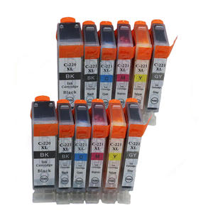 XIJIN 12pk PGI 220 CLI221 Gray Ink Cartidges with Chip Compatible for Canon MP980