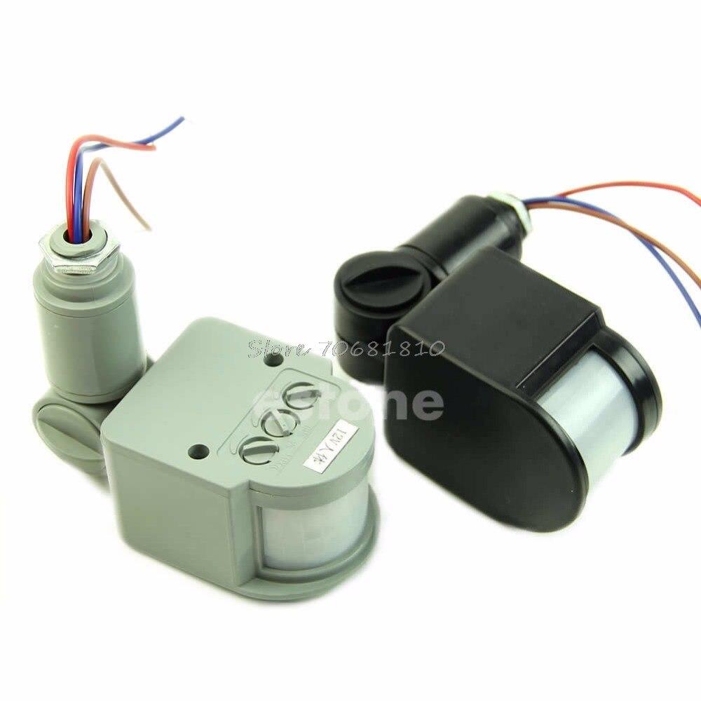 RF 140 Degree Outdoor LED Security PIR Infrared Motion Sensor Detector Wall Light 12M R179T Drop
