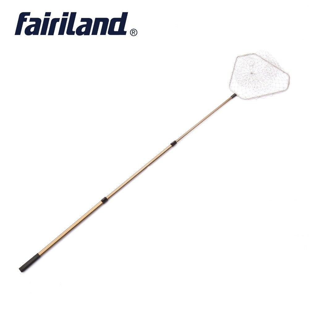 Рыболовная сеть сачок 50*50 см/20*20 дюймов треугольный алюминиевый обруч 8 мм выдвижная ручка до 2,5 м Совок сачок рыболовные сети