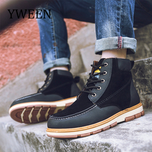 YWEEN Hot Newest Keep Warm Mens Winter Boots High Quality pu Leather Wear Resisting Casual Shoes Working Fashion Men Boots