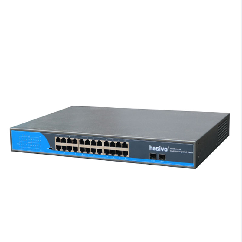 Image 3 - 24 Ports POE Switch With 2 Gigabit SFP 24 PoE 2 SFP Ports Gigbit PoE Ethernet Network Switch 1000Mbps  RackmountNetwork Switches   -