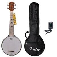 Kmise Banjo Ukulele 4 String Ukelele Uke Concert 23 Inch Size Maple With Bag Tuner