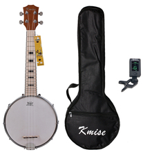 цены Kmise Banjo Ukulele 4 String Ukelele Uke Concert 23 Inch Size Maple with Bag Tuner