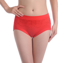Sexy plus size women panties bamboo Fibre ladies' panties high waist women underwear briefs #006