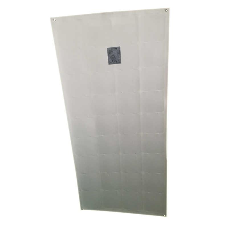 مرنة لوحة طاقة شمسية سقف 100w 18v 4 قطعة الشمسية شاحن بطارية 12v وحدات الطاقة الشمسية 400 واط 48 فولت قارب القافلة سيارة التخييم RV