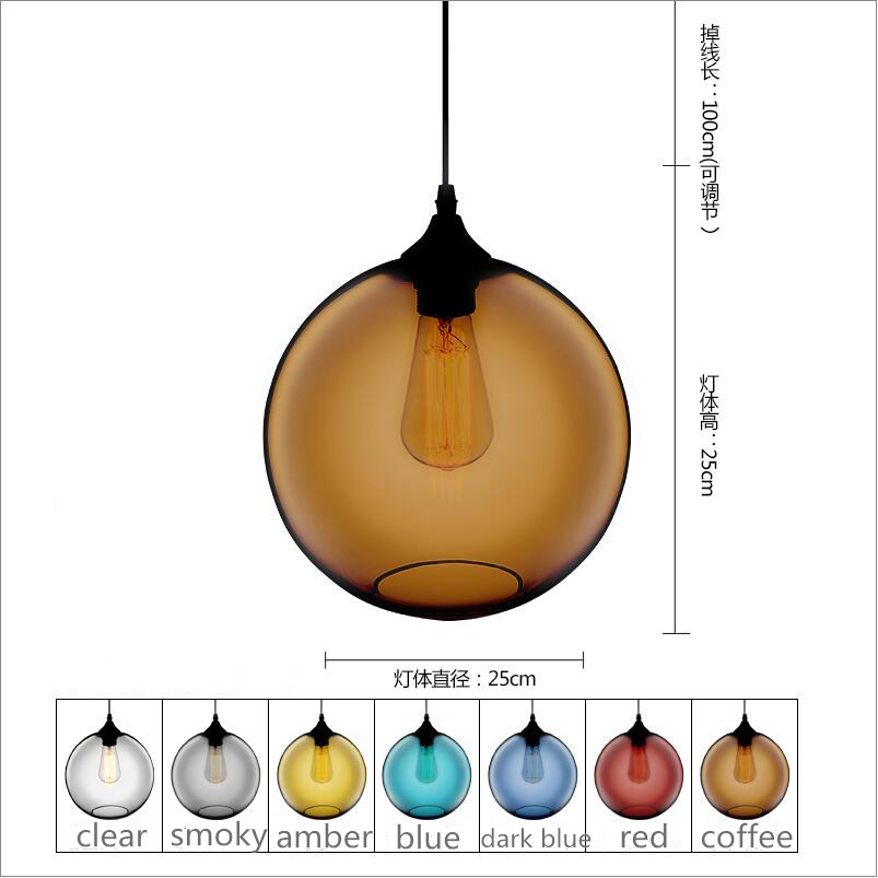 modern round glass pendant light grey color ,clear color ,amber color pendant lamps with bulbs 110V/220V led pendant lights modern round glass pendant light grey color clear color amber color pendant lamps with bulbs 110v 220v led pendant lights