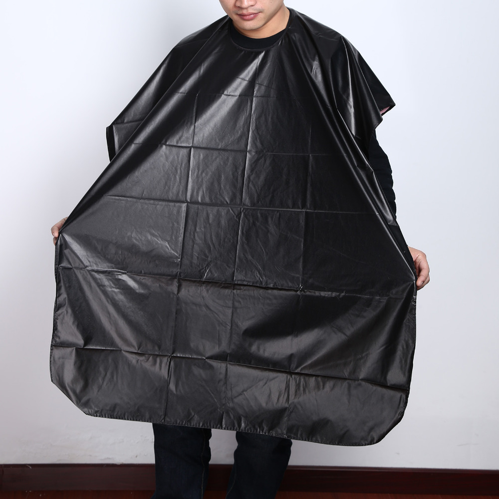 Latest 2017 Black Pro Salon Hairdressing Hairdresser Hair Cutting Gown Barber Cape Cloth Barbers Cape Gown Waterproof 130*80cm