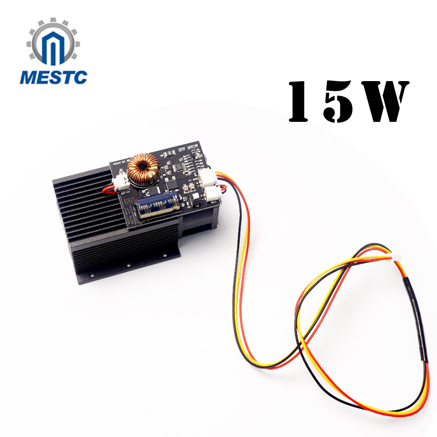 15W laser,High Power Diode Laser Focusable Blue Laser Module 450nm with TTL Driver for laser cutter engraving machine 15000mW 5 5w 450nm blue laser engraving machine cutter without ttl module 5500mw laser diode