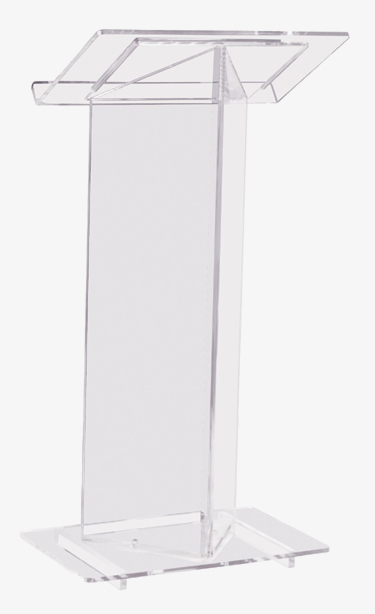 Beautiful Transparent Acrylic Podium Pulpit Lectern Plastic Podium