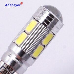 Image 5 - 100 pcs/lot T10 canbus led 10 SMD 5630 Chip 501 W5W 194 Error Free Car LED Lens Indicator Wedge Dome Light Bulb Lamp car styling