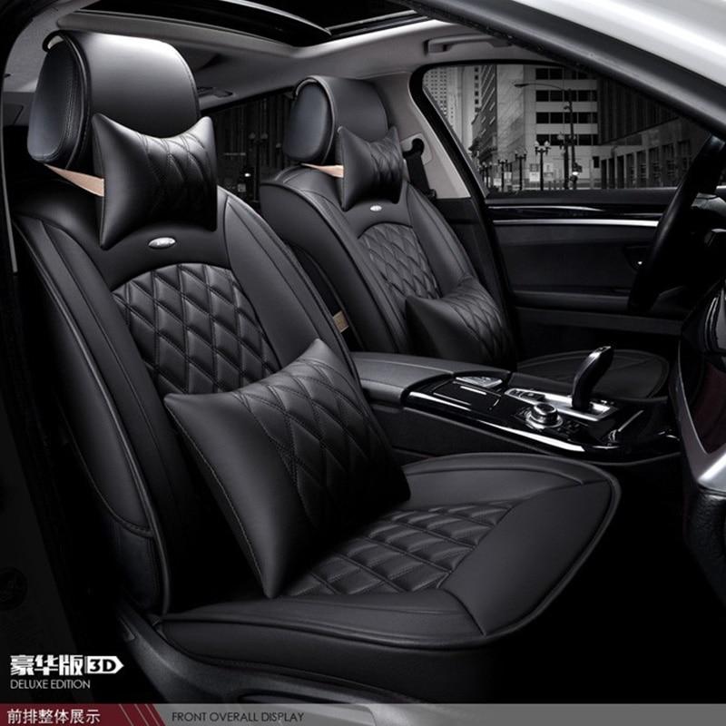 Для Kia Rio cerato Форте K2 K3 K5 черный красный бренд роскошный автомобиль из мягкой кожи сиденья спереди и сзади полный набор автомобиля чехлы на си