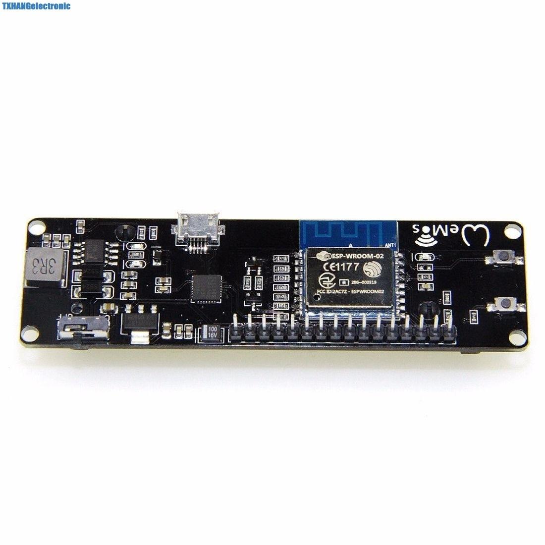 WeMos D1 ESP-Wroom-02 ESP8266 Nodemcu WiFi Module With 18650 Battery Charging