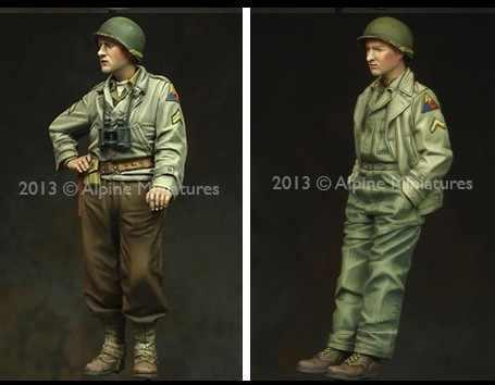 1/35 Scale WW2 American tank crews 2 WWii Figure Resin Model Kit Free Shipping