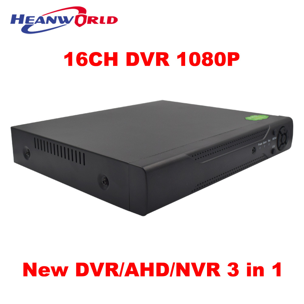 New HD Mini DVR NVR AHD 16CH 1080P 2MP CCTV Digital Video Recorder 3 in 1 ONVIF H.264 SATA For IP Cameras Analog AHD Cameras new 4 ch channel h 264 home network 5 in 1 mini cctv 1080p hdmi ahd tvi cvi dvr onvif nvr p2p security video recorder systems