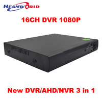 New HD Mini DVR NVR AHD 16CH 1080P 2MP CCTV Digital Recorder Recorder 3 In 1