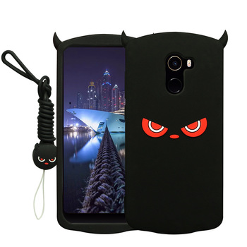 Soft Silicone Case For Xiaomi Mi Mix 2 Cute Eye Skin Cartoon Protective Back Cover Cases For xiaomi mi mix2 phone Shell