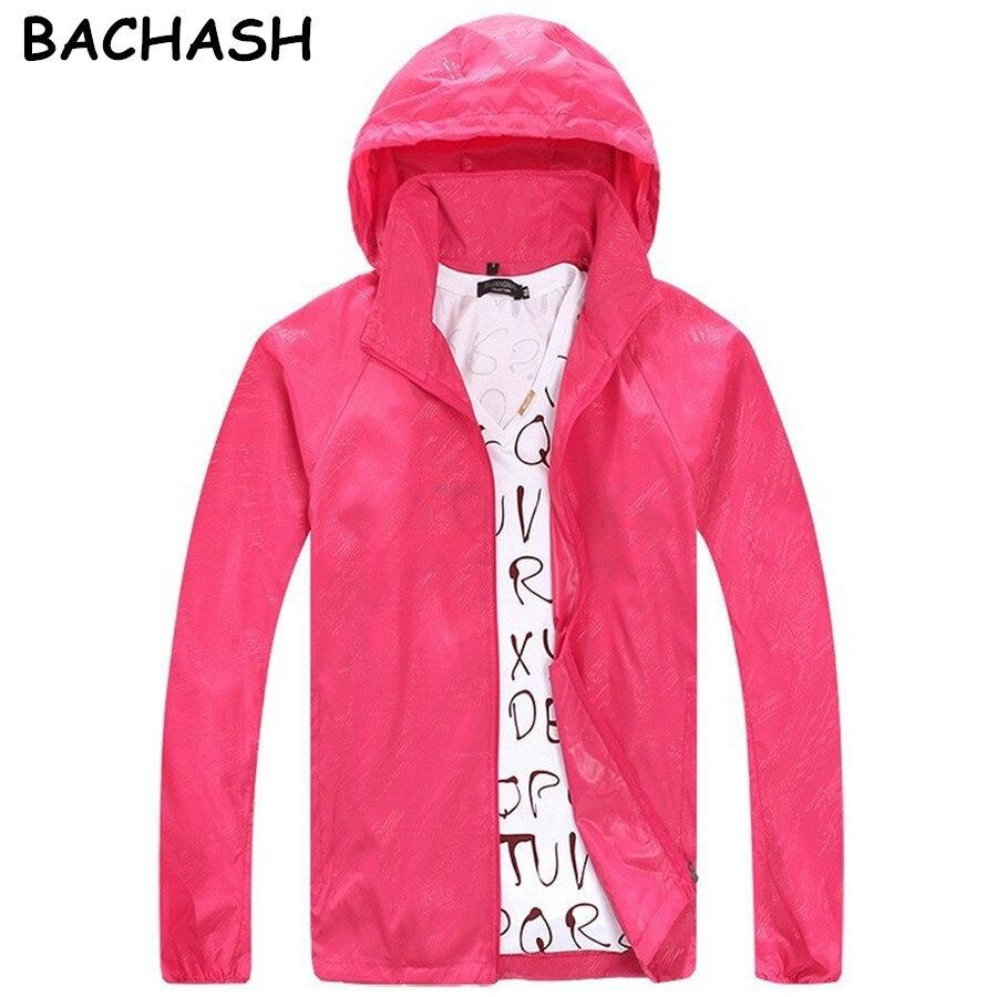 BACHASH 2017 Spring Autumn Summer Brand Men's Women's Casual Jacket Hooded Jackets Fashion Lovers Thin Windbreaker Zipper Coats