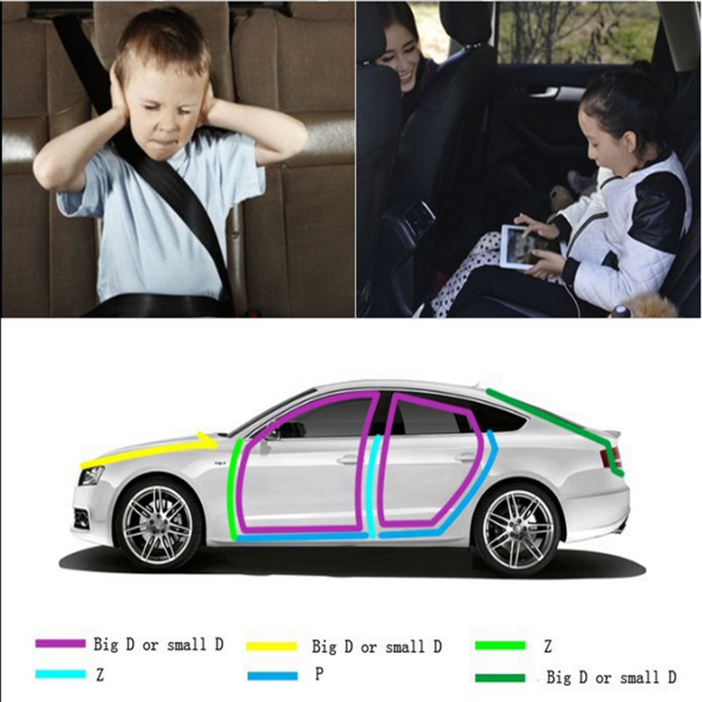 4 M 3M Auto Rubber seals Car Door Seal Strip P Type Rubber Seal Noise Insulation Anti-Dust Soundproof Car Door Sealing Strips (2)