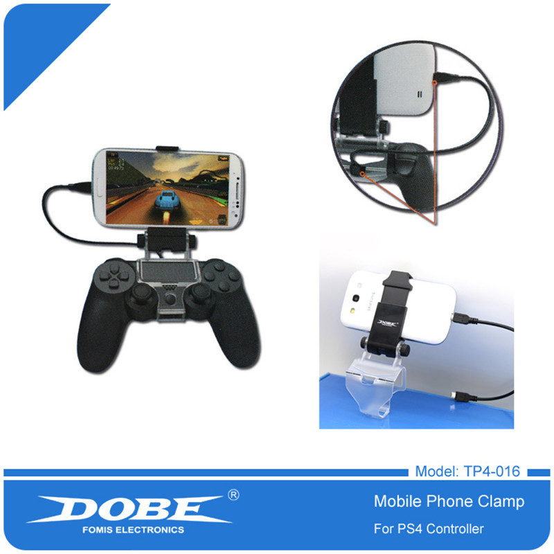 DOBE Smart Phone Clip Clamp Mount Holder Stand Bracket for Sony PlayStation 4 PS4 Wireless Controller