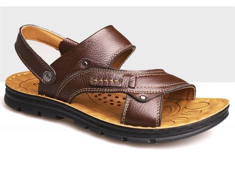 15e1611744c7 Men Summer Lightweight Sandals Male Outdoor Breathable Flat Sandals ...