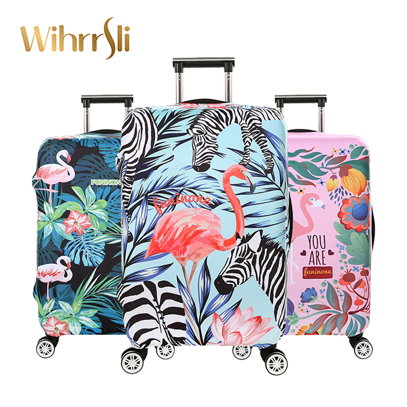 Travel accessories Luggage cover Suitcase protection baggage dust cover Trunk set Trolley case Elasticity Flamingos pattern diamond pattern candle cover