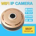 """SHRXY 360 Градусов Смарт МПК Мини Беспроводная IP Камеры """"Рыбий Глаз"""" Двухстороннее Аудио P2P 960 P HD Безопасности Wi-Fi Камера Золотой цвет"""