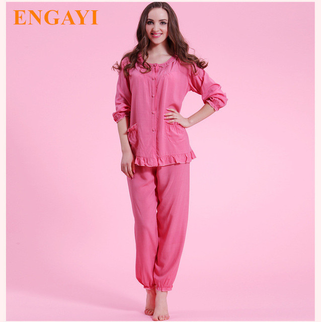 5b865bdb0c New Women Cotton Leisure Pajamas PyjamaS Sets Robes Bathrobe Longue Femme  Sexy Pijamas Nightgown Nightwear Night Gown M7920